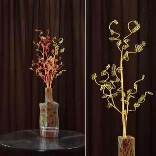 цветы иск. Веточка желтая с мелкими цветами и спиралью 80см