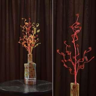 цветы иск. Веточка красная с мелкими цветами и спиралью 80см