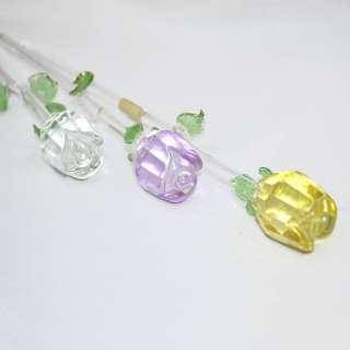 цветок стеклянный - роза, в.30