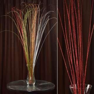 ветка декоративная с красными блестками (1 упаковка)