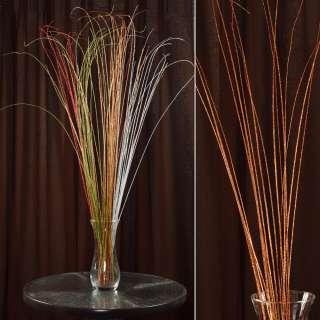 ветка декоративная с оранжевыми блестками (1упаковка)