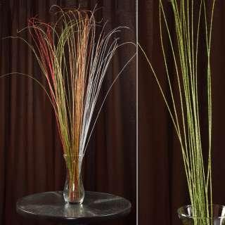 ветка декоративная с зелеными блестками (1упаковка)