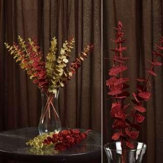 цветы иск. Ветка с листьями красная, 47см
