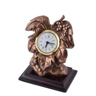 часы настольные Виноградная лоза латунные, 13см