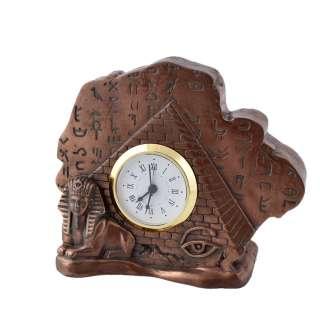 Часы настольные египетская пирамида 11,5х14х5 см под бронзу