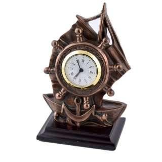 Часы настольные парусник 16,5х11х7,5 см под бронзу