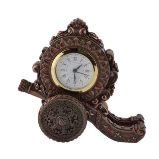 Часы настольные пушка 16,5х17,5х9 см под бронзу