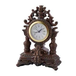 Часы настольные каминные корона 18х13х8,5 см под бронзу