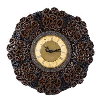 часы круглые настенные под ореховый срез, d 30