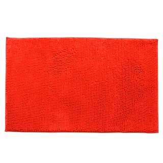 Коврик для ванной микрофибра прорезиненная основа 50х80 см красный