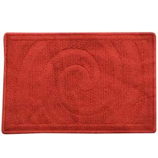 Коврик для ванной прорезиненная основа 40х60 см красный темный