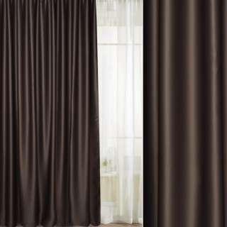 Портьера блэкаут коричневая, высота 2,60, ширина 2,45