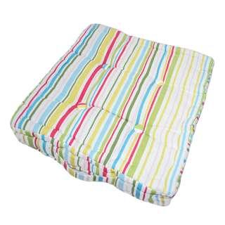 матрац д/стульев в полоску зелено-малин, роз-голуб, 40х40