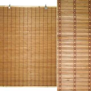 Ролеты из бамбуковой соломки debel 90х120 см бежевые темные