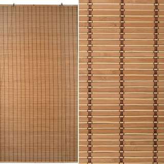 Ролеты из бамбуковой соломки debel 120х235 см бежевые