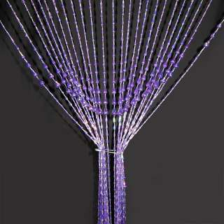 Штора декоративная пластик капля 80х175 см фиолетовая