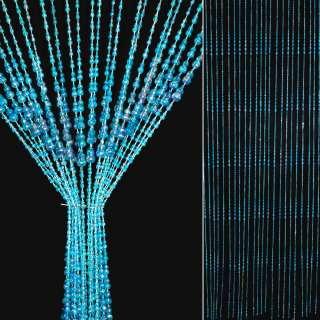 Штора декоративная пластик восьмерочка 82х175см синяя