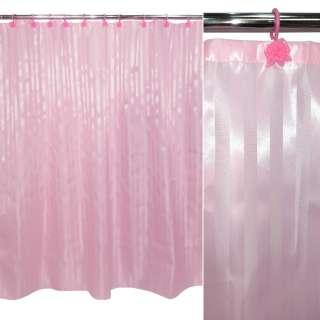 штора д/ванной комнаты розовая, 178х183