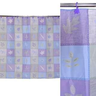 штора д/ванной комнаты квадратами в ассортименте, 178х183