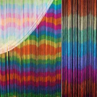 Штора ниточная радуга горизонтальная 310х290 см многоцветная (вес 1,140 кг)