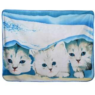 Плед флисовый 130х160 см три котенка