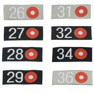 Термоаппликация бирка размерник 50х20мм с точкой красной