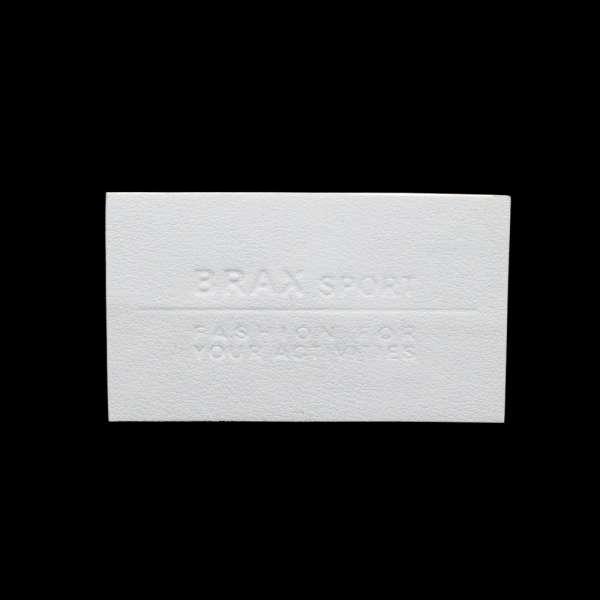 Термоаппликация 35х60мм под кожу белая