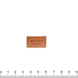 Нашивка кожаная SPORT CLASSIC, 1,5х2,5см