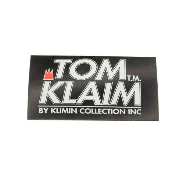 Этикетка бумажная Том Клайм 50х100мм черная с белым