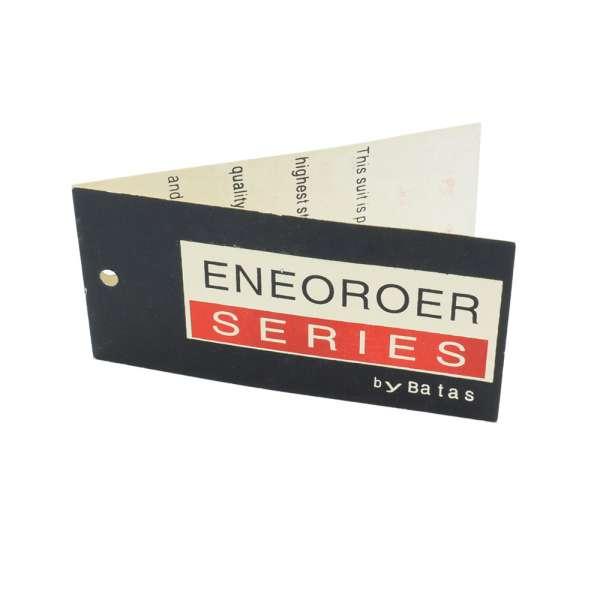 Этикетка бумажная двойная Энеороер 90х45мм черная с красным