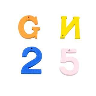 Пришивной декор цифры буквы