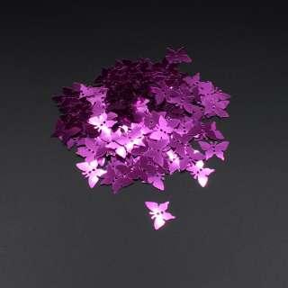 Пайетка бабочка 17х13мм 1 упаковка 5г=100шт розовые фуксия