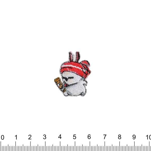 Термоаппликация Заяц в шапке 20х30мм