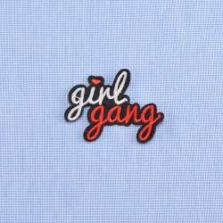 Термоаппликация GIRL GANG, 60х40мм