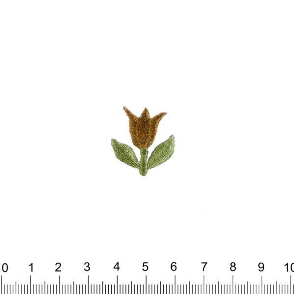 Термоаппликация Тюльпан 25х25мм коричневый