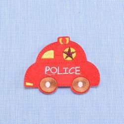 Термоаппликация Полиция 80х83мм