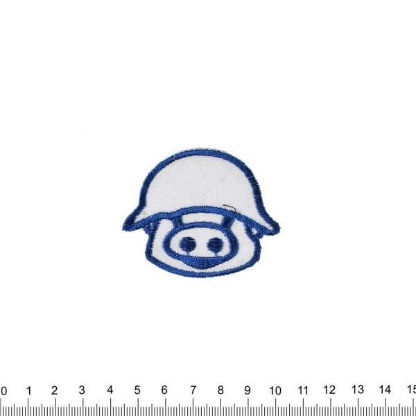 Термоаппликация Свинка в каске 50х60см