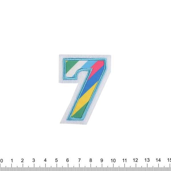 Термоаппликация Цифра 7 в полоску 50х70мм