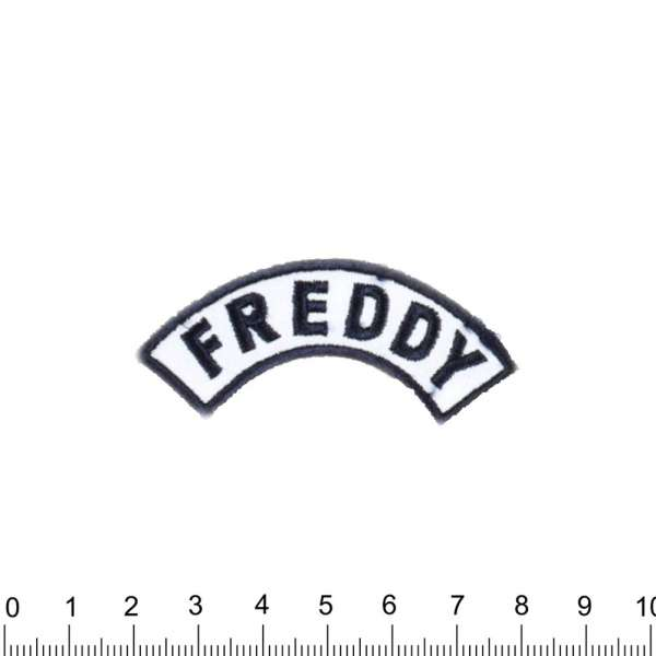 Нашивка FREDDY 70х30мм бело-синяя