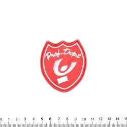 Нашивка PNOB DEPT 65х55мм красная