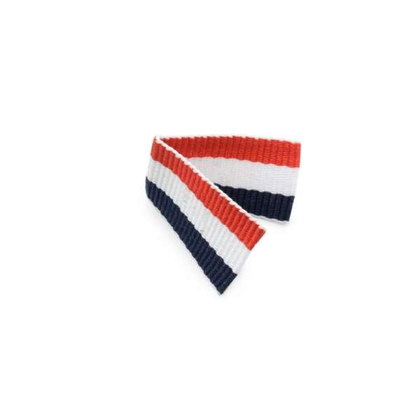 Нашивка репсовая флажок Французский флаг 50х15мм
