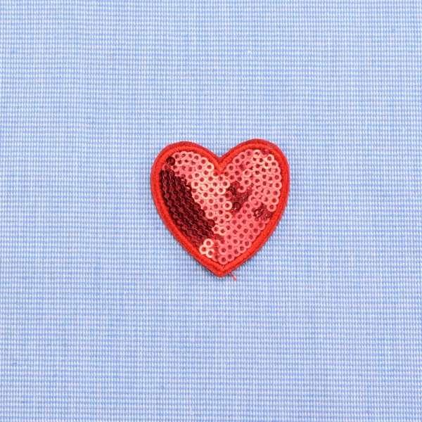Нашивка с пайетками Сердце 40х42мм