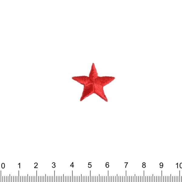 Термоаппликация Звезда 20х20мм красная