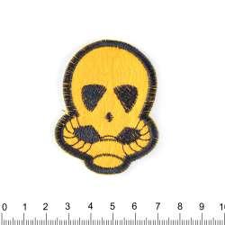 Нашивка Пришелец 35х25мм черно-желтый
