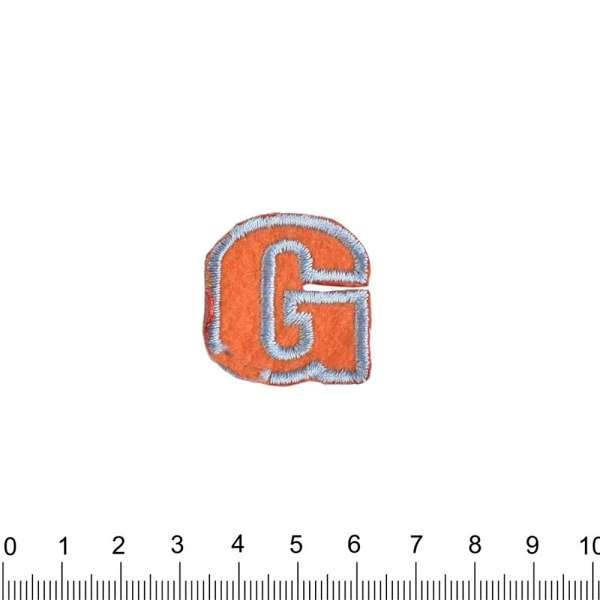 Термоаппликация Буква G 30х30мм оранжевая