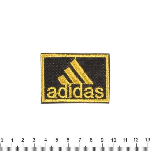 Термоаппликация ADIDAS 40х60мм черно-желтая