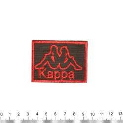Термоаппликация KAPPA 40х60мм черно-красная
