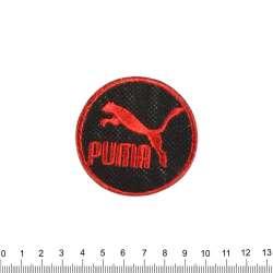 Термоаппликация PUMA круглая 60х60мм черно-красная