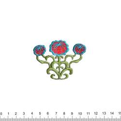 Термоаппликация Цветы три 55х70мм
