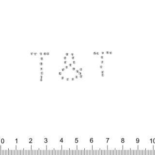 аппликация T&T серебристая, мет.стразы, 2х5см